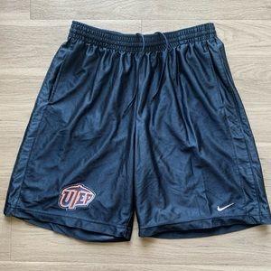 Y2K UTEP Nike Basketball Shorts Grey Tag Size XXL